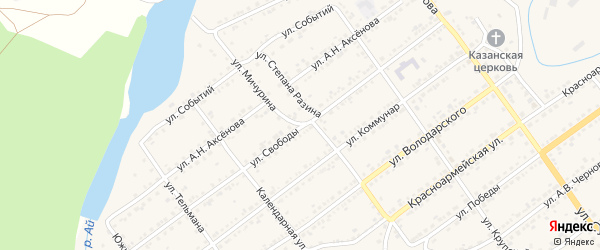 Улица Мичурина на карте Кусы с номерами домов