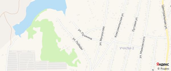 Улица Александра Серебрянникова на карте Учалы с номерами домов