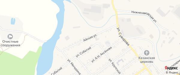 Айская улица на карте Кусы с номерами домов