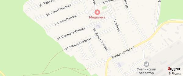 Улица М.Гафури на карте Учалы с номерами домов