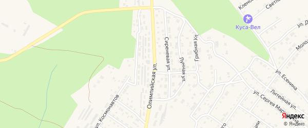 Олимпийская улица на карте Кусы с номерами домов