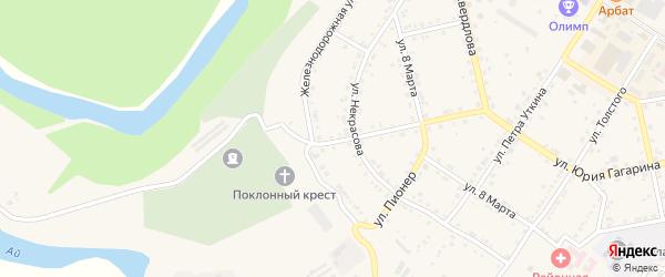 Улица Куйбышева на карте Кусы с номерами домов