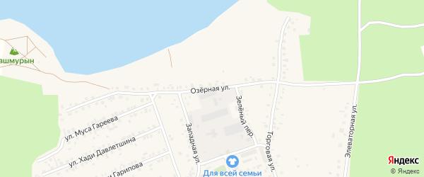 Озерная улица на карте села Учалы с номерами домов