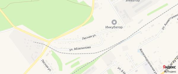 Лесная улица на карте села Учалы с номерами домов