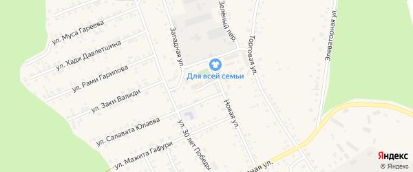 Садовая улица на карте села Учалы с номерами домов