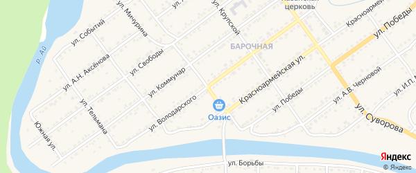 Улица Володарского на карте Кусы с номерами домов