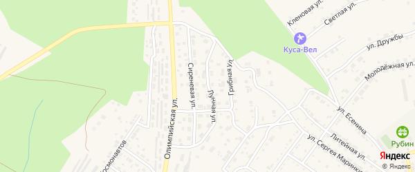 Лунная улица на карте Кусы с номерами домов