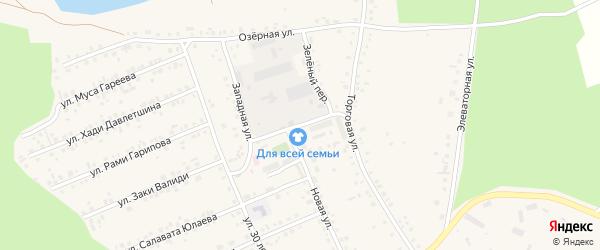 Клубная улица на карте села Учалы с номерами домов