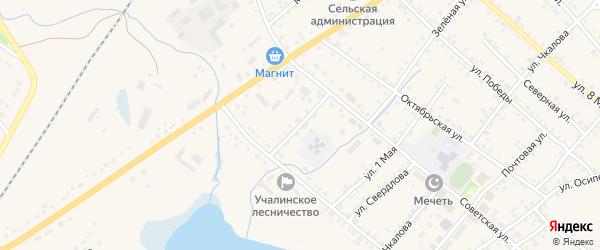 Партизанский переулок на карте села Учалы с номерами домов