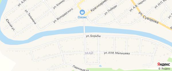 Улица Борьбы на карте Кусы с номерами домов