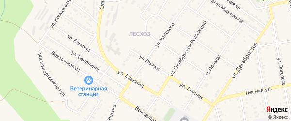 Улица Урицкого на карте Кусы с номерами домов