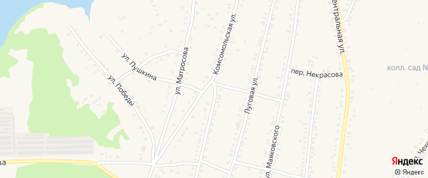 Комсомольская улица на карте Учалы с номерами домов