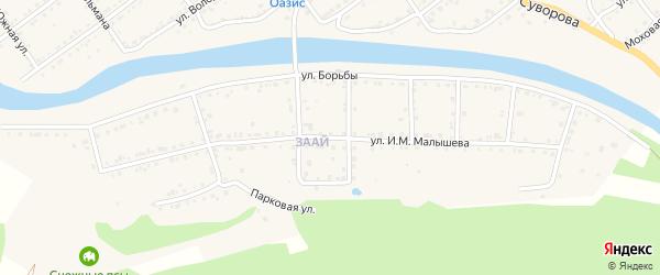 Улица И.М.Малышева на карте Кусы с номерами домов