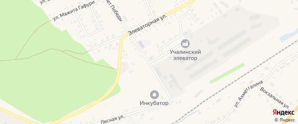Элеваторный переулок на карте села Учалы с номерами домов