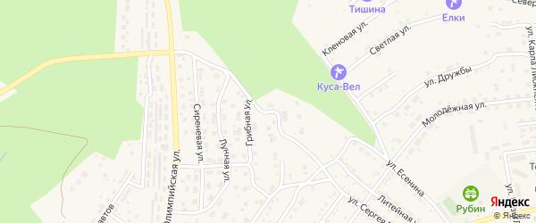 Кедровая улица на карте Кусы с номерами домов