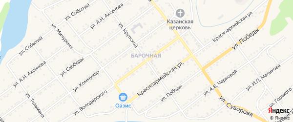 Улица Крупской на карте Кусы с номерами домов