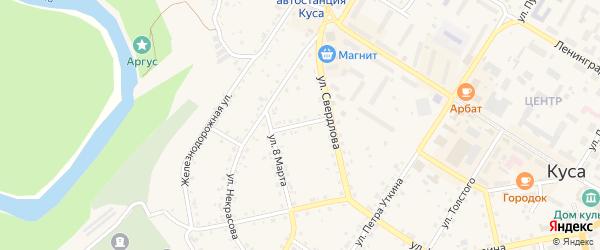 Улица Панфилова на карте Кусы с номерами домов