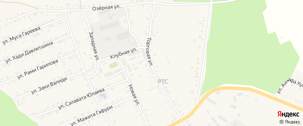 Торговая улица на карте села Учалы с номерами домов