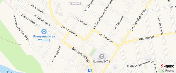 Улица Октябрьской революции на карте Кусы с номерами домов