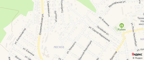 Улица Энтузиастов на карте Кусы с номерами домов