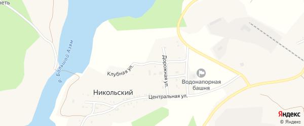 Улица Школьная Горка на карте Никольского поселка с номерами домов