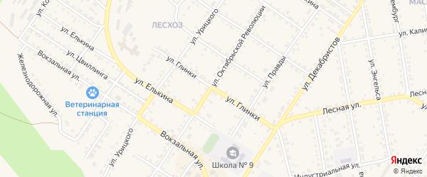 Улица Глинки на карте Кусы с номерами домов