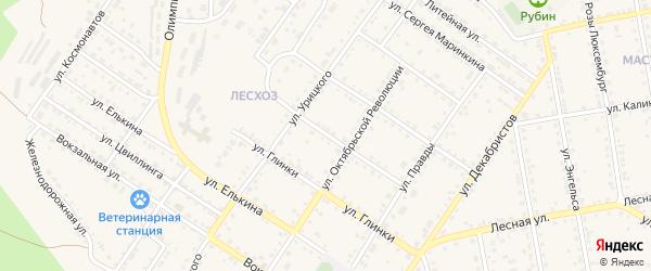 Улица Репина на карте Кусы с номерами домов