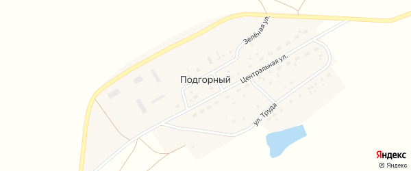 Зеленая улица на карте Подгорного поселка с номерами домов
