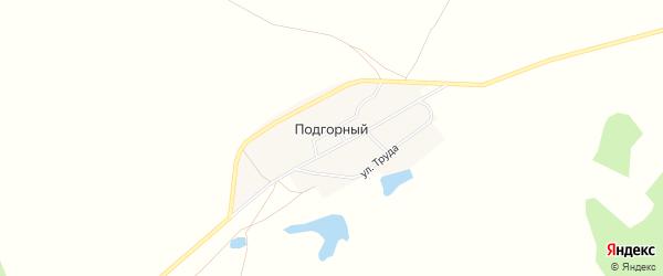 Карта Подгорного поселка в Челябинской области с улицами и номерами домов