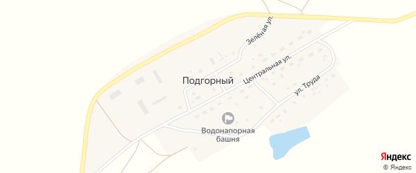 Улица Труда на карте Подгорного поселка с номерами домов