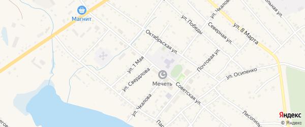 Советская улица на карте села Учалы с номерами домов