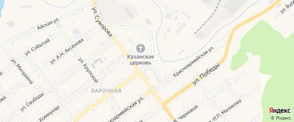 Ключевая улица на карте Кусы с номерами домов