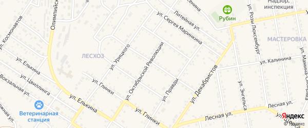 Строительная улица на карте Кусы с номерами домов
