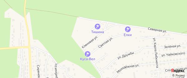 Кленовая улица на карте Кусы с номерами домов