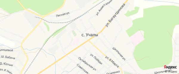 Карта села Учалы в Башкортостане с улицами и номерами домов