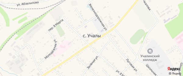 Ургуновская улица на карте села Учалы с номерами домов