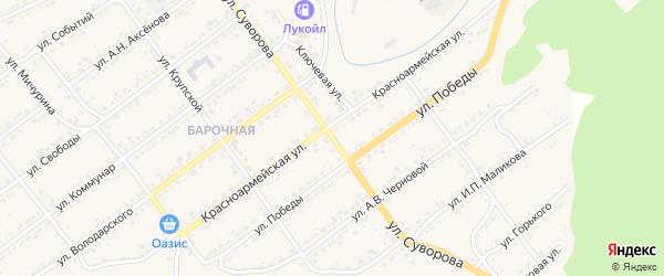 Улица Суворова на карте Кусы с номерами домов
