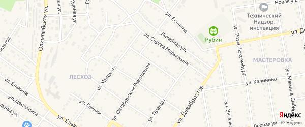 Улица Ватутина на карте Кусы с номерами домов