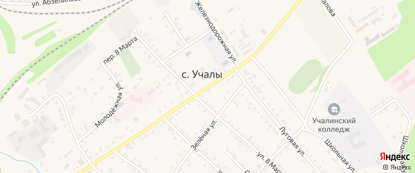Улица Багаутдинова на карте Учалы с номерами домов