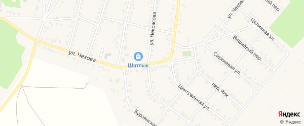 Улица Чехова на карте Учалы с номерами домов