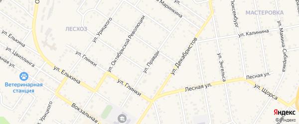 Улица Правды на карте Кусы с номерами домов