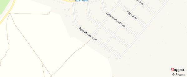 Бурзянская улица на карте Учалы с номерами домов