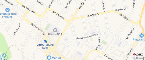 Улица Кольцова на карте Кусы с номерами домов