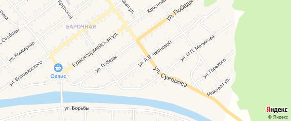 Улица А.В.Черновой на карте Кусы с номерами домов