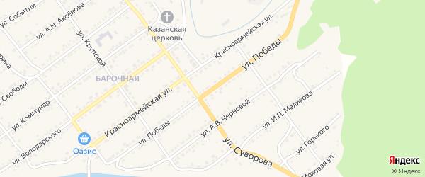 Улица Победы на карте Кусы с номерами домов