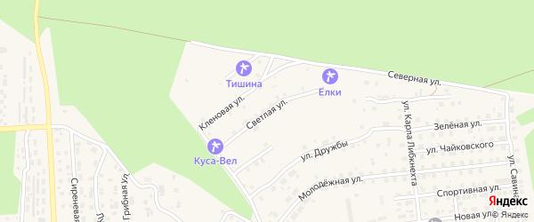 Светлая улица на карте Кусы с номерами домов