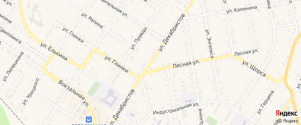 Улица Декабристов на карте Кусы с номерами домов