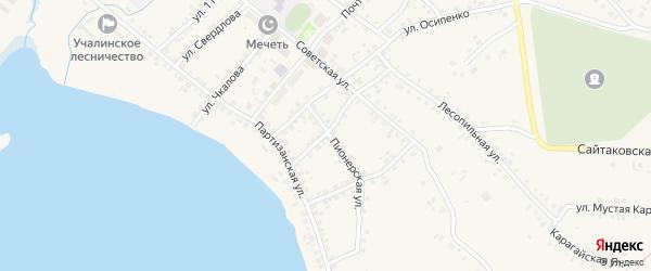 Улица Ташкина на карте села Учалы с номерами домов