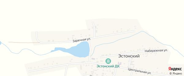 Заречная улица на карте Эстонского поселка с номерами домов