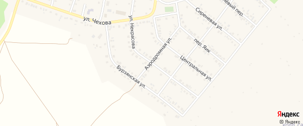 Улица Некрасова на карте Учалы с номерами домов